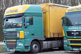 Photo: Gartner KG HUNGARIA: DAF or MAN TGX?! What's your favourite?  ------> click for more: www.truck-pics.eu