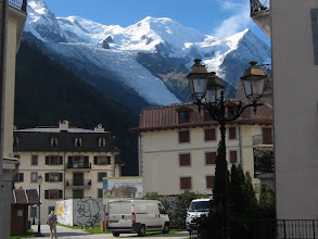 Photo: On a clear day you can easily see the summit of Mt. Blanc from town. At 15,781 ft., it is the highest mountain in the Alps.