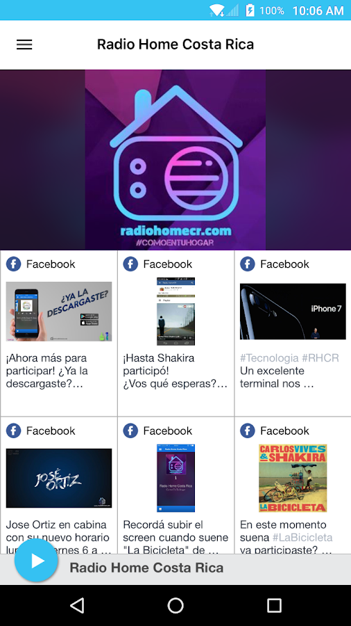 Radio Home Costa Rica- screenshot