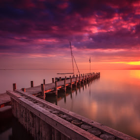 Sunset Lake Neusiedl II. by Zoltan Duray - Landscapes Waterscapes ( water, purple, weiden am see, lake neusiedl, neusiedl see, sun, sky, see, blue, sunset, pier, cloud, sunrise, austria, , garyfonglandscapes, holiday photo contest, photocontest, long, exposure, daytime, edition, challenge, the mood factory, mood, lighting, sassy, pink, colored, colorful, scenic, artificial, lights, scents, senses, hot pink, confident, fun, mood factory  )