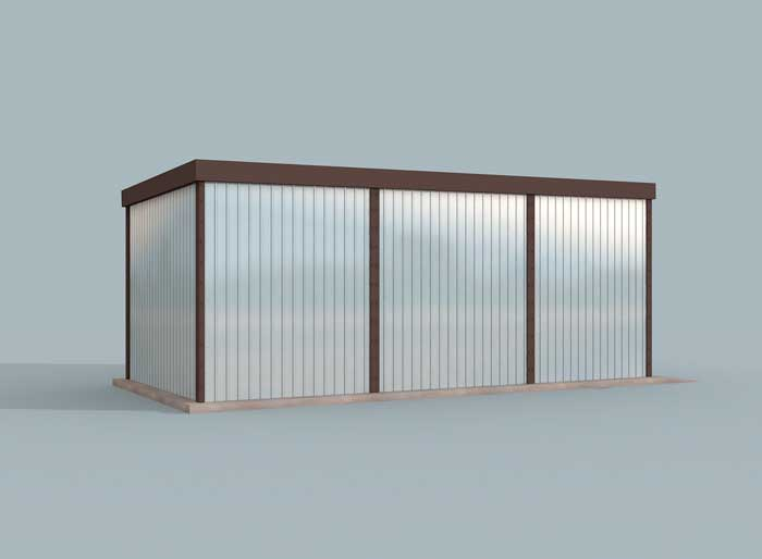 Projekt Garażu Gb42 Garaż Blaszany Jednostanowiskowy Z