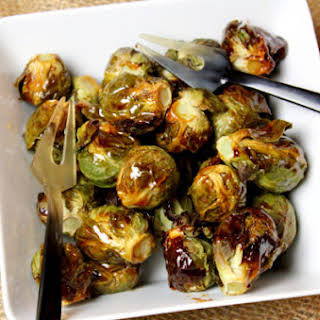 Honey Roasted Brussel Sprouts.