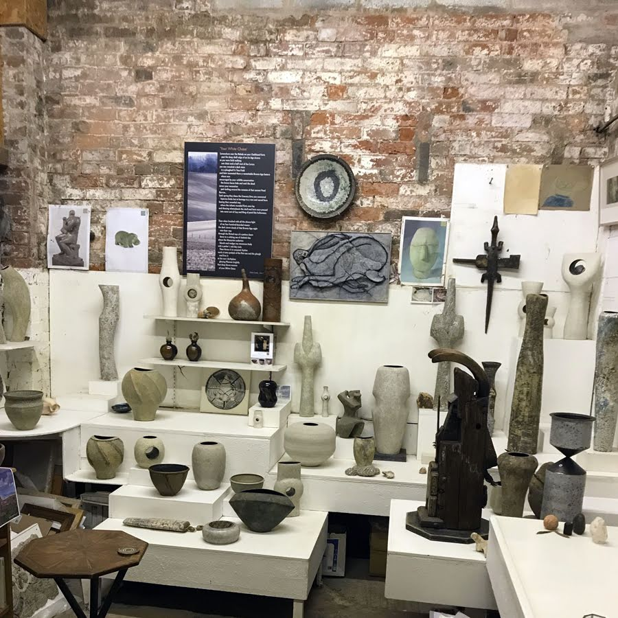 Chris Carter's pottery showroom