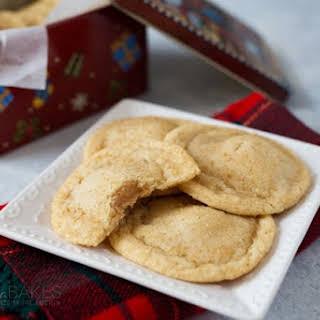 Chewy Caramel Stuffed Sugar Cookies.