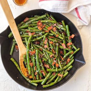 Skillet Bourbon Bacon Green Beans