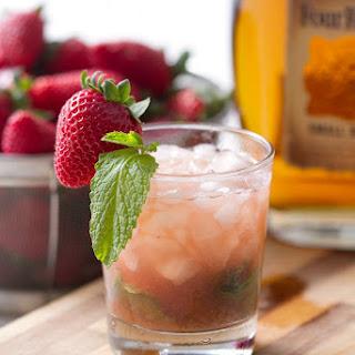 Strawberry Rhubarb Mint Julep.