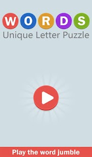 WORDS Unique Letter Search Puzzle - Be Word Smart - náhled