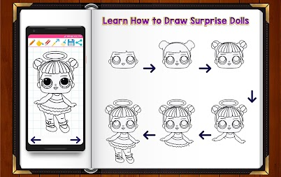 Learn How to Draw Cute Surprise Dolls APK screenshot thumbnail 2