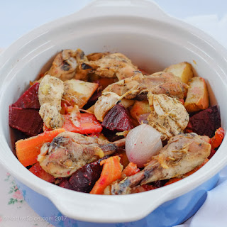 Roast Chicken with Root Vegetables.