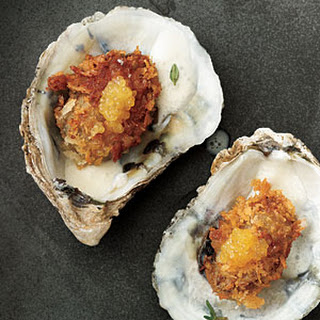 Pan-Fried Oysters with Tangy Crème Fraîche