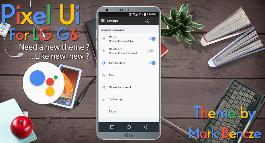 Download Pixel UX Theme for LG G6 APK latest version app by Mark
