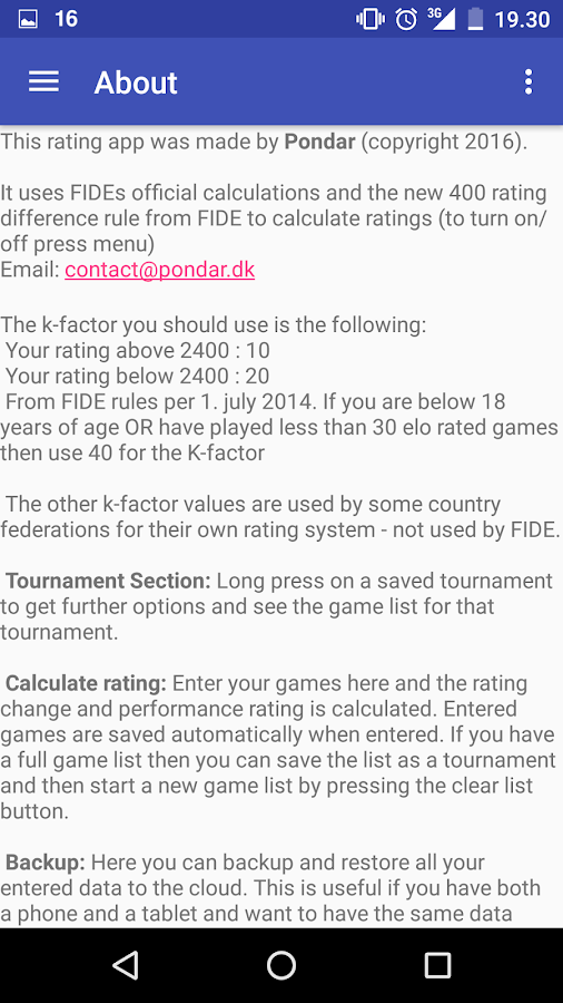 Chess Rating Pro- screenshot