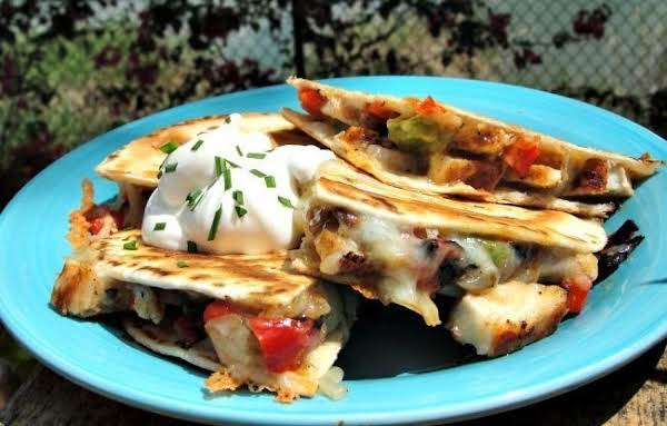Grilled Chicken And Vegetable Quesadillas Recipe
