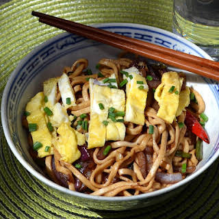 Sweet and Spicy Stir-Fried Noodles.