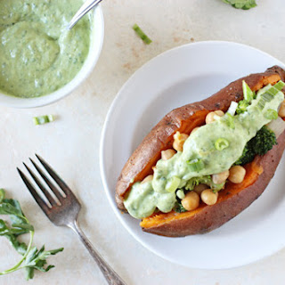 Green Goddess Baked Potatoes