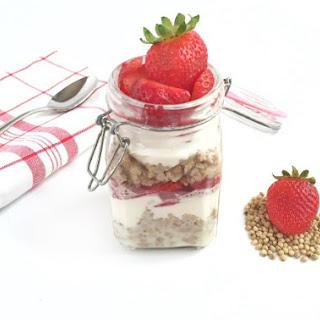 Strawberry Vanilla Sorghum Parfait