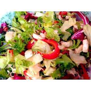 Seafood Rucola Mix Salad.