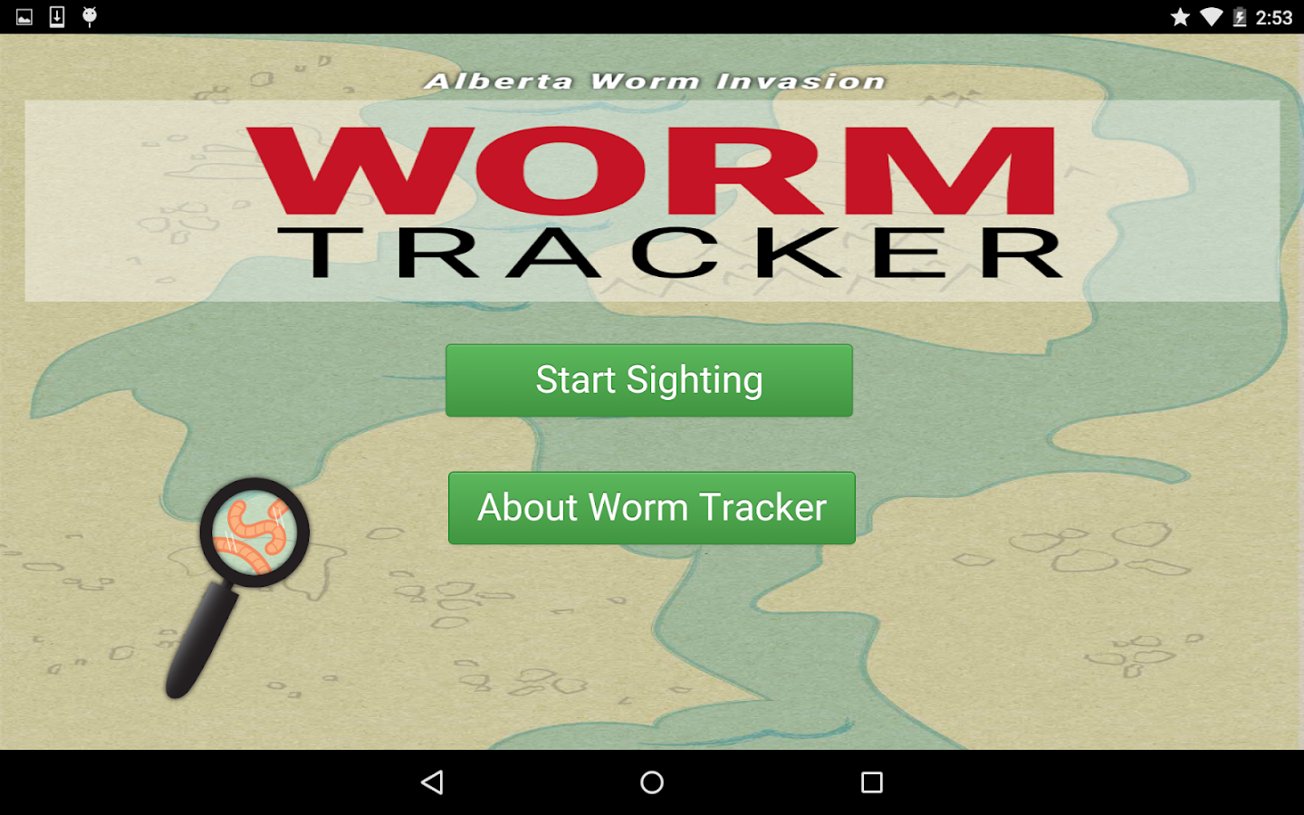 Worm Tracker- screenshot