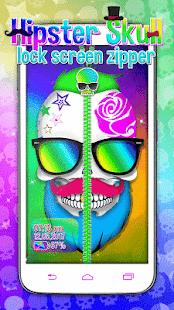 Hipster Skull Lock - Zipper - náhled