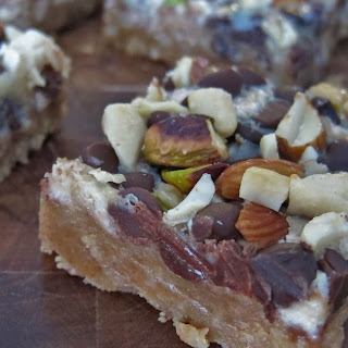 Chocolate Halawa Nut Bars