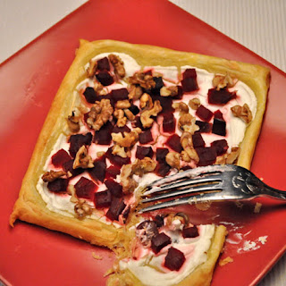 Pickled Beet, Walnut and Goat Cheese Tart