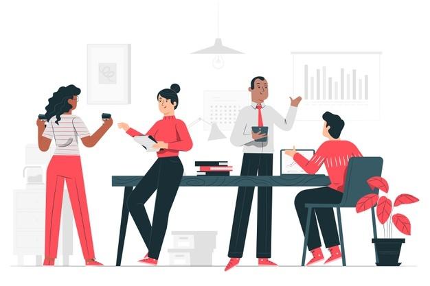 Ilustrasi kerjasama dalam bisnis