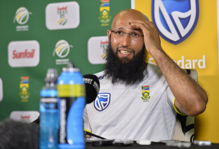 Hashim Amla of South Africa during day 2 of the 2nd Sunfoil Test match between South Africa and Australia at St Georges Park on March 10, 2018 in Port Elizabeth.