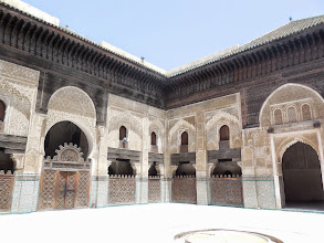 Photo: The calm courtyard of a mosque in the medina.
