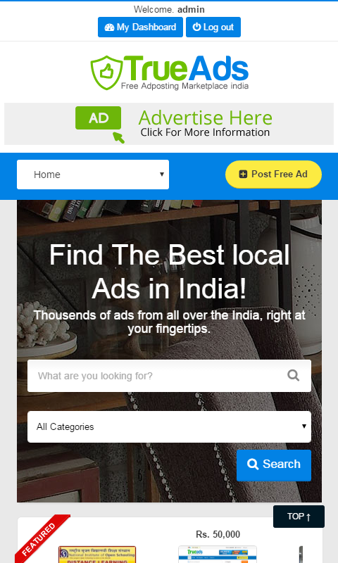 TrueAds Free Local Classifieds- screenshot