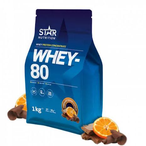 Star Nutrition Whey 80 1kg - Chocolate Orange