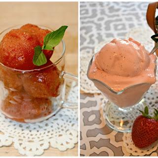Strawberry Frozen Yogurt and Strawberry Sorbet THM-FP Recipe