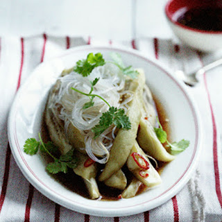 Steamed Eggplant And Harusame Noodles.