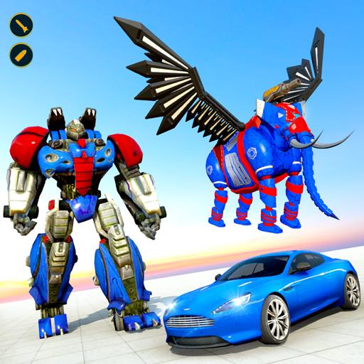 Flying Elephant Robot Car Transform: Robot War
