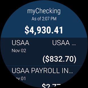 USAA Mobile- screenshot thumbnail