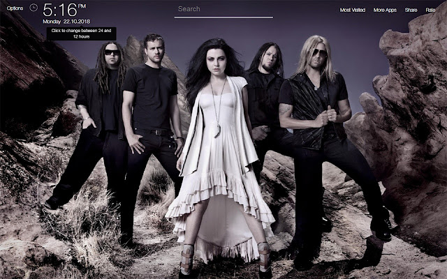 Evanescence Wallpapers FullHD New Tab