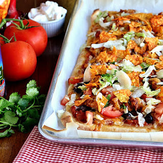 Black Bean & Chicken Taco Pizza