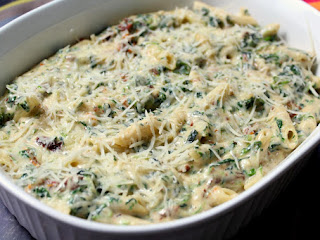 Spinach Parmesan With Pasta Recipe