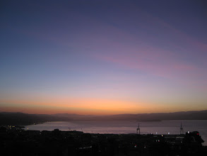 Photo: Tints of colour over Wellington, thanks to volcanic ash from Chile! 7:27am, 13 Jun 2011