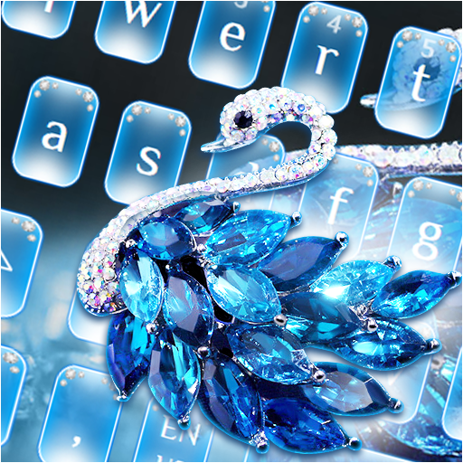 Blue Diamond Swan Keyboard