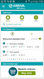 Arriva UK Bus App- screenshot thumbnail