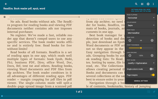 ReadEra - book reader pdf, epub, word 19.12.27+1120 screenshots 13