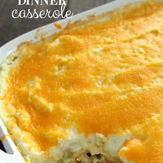 Leftover Thanksgiving Dinner Casserole.
