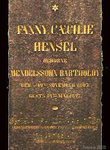 Photo: Grabstein der Fanny Mendelssohn Bartholdy