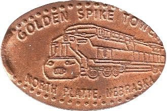 Photo: Golden Spike Tower penny
