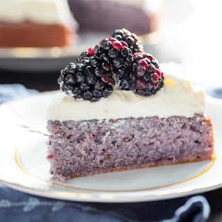 Blackberry Cake With Cream Cheese Frosting.