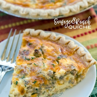Sausage and Ranch Quiche.