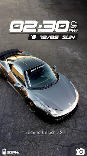 Speed Car CM Locker Theme screenshot 1