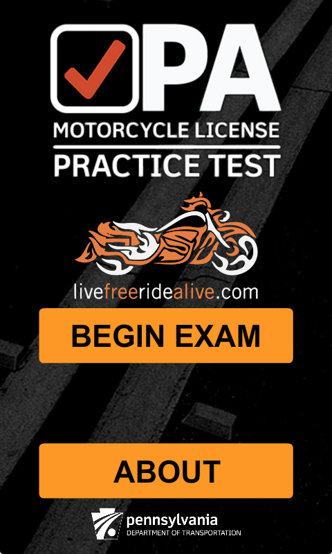 PA Motorcycle Practice Test- screenshot