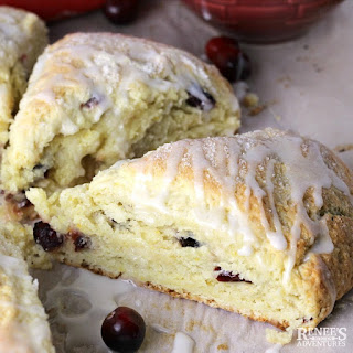 Easy Orange Cranberry Scones.