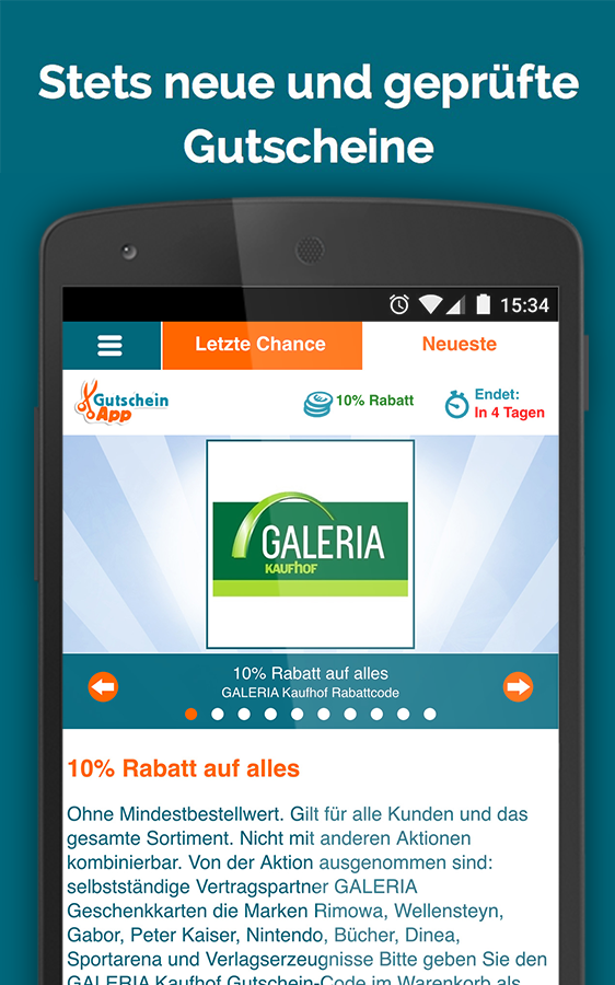 GutscheinApp- screenshot